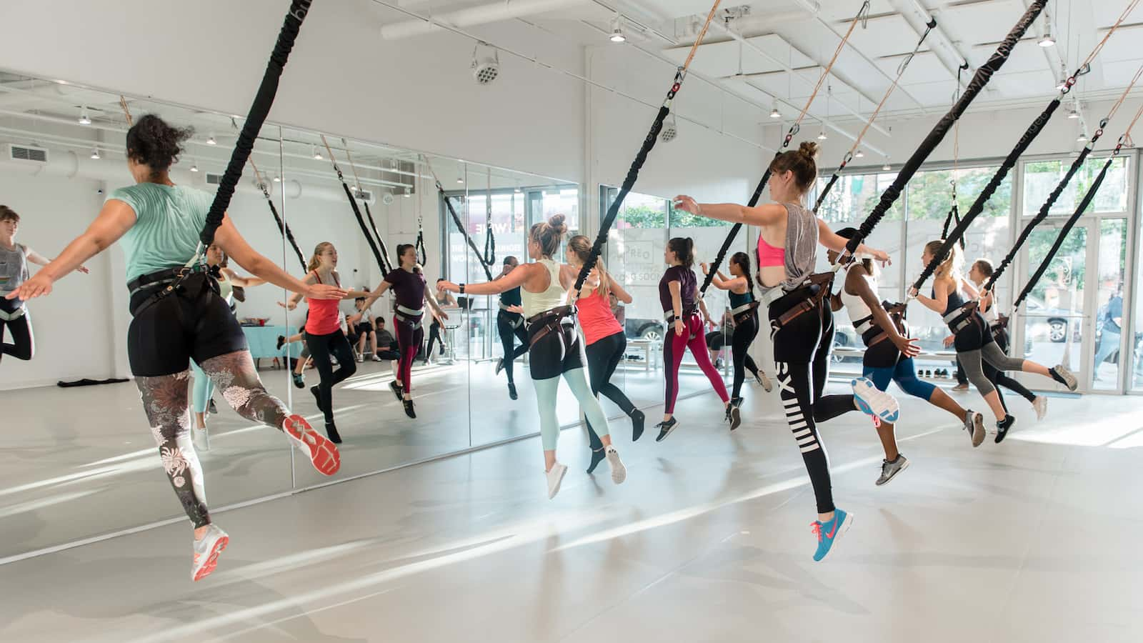 Why The Bungee Yoga Class Is The Coolest Exercise Class On Offer